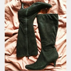 Black suede boots impo stretch